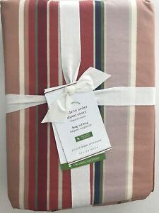 Pottery Barn Lisi Stripe Duvet Cover - King/Cal K/CK - Warm Reds - Brand New