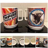 Vintage USA Deka Star Wars Yoda The Empire Strikes Back Set Of 2 Melamine Cups