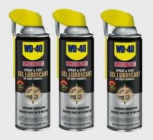 3~ WD-40 Specialist 30010, 10oz SPRAY AND STAY GEL LUBRICANT, No-Drip Formula