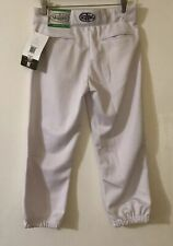 Baseball Softball Pants Nwt Youth Xl Louisville Slugger Zip White Brand New