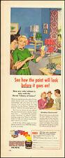 1950-DEVOE Paints`50's home interior`Devoe & Raynolds. Co.-Vintage ad
