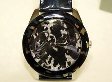 New GUESS Iconic Patent Watch Animal Print Dial Womens U0455L1 leopard crystal