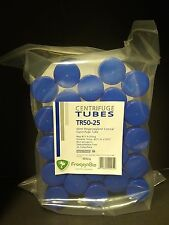 25 x 50ml NEW Conical Centrifuge Tubes, Sterile, autoclavable including rack