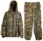 MOPHOTO Ghillie Suit 3D Leafy Camo Hunting M or L for 4.9-5.9FT, Green Forest