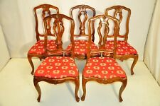 Nice Set of 5 French Beechwood Matched Side Dining Chairs