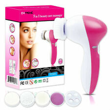 5 IN 1 SKIN CARE MASSAGER- BEAUTY FACE WASH SCRUBBER ELECTRIC CLEANSER BRUSH UK
