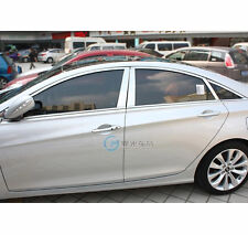 FIT FOR 2011- 2013 HYUNDAI SONATA WINDOW PILLAR POST LINE CHROME MOULDING TRIM B