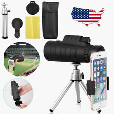 50X60 Zoom Optical Hd Lens Monocular Telescope+ Tripod+ Clip For Universal Phone