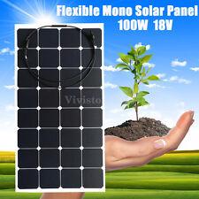10W - 100W 12V Mono Semi Flexible Battery Solar Panels Caravan Motorhome Boat RV