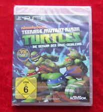 Turtles Die Gefahr des Ooze-Schleims, PS3, PlayStation 3 Spiel, Neu, deutsche V.