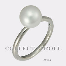 Authentic TrollBeads Silver White Pearl Ring Size 6 1/2  57104  TAGRI-00073
