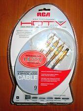 9ft STUDIO GRADE RCA  Optical Audio 3 Component Y Pr Pb Video Cable 24K Gold A/V