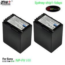 2xBattery for Sony NP-FV100 NP-FH100 DCR-DVD DCR-HC SX HDR-CX HC Series AU-ship