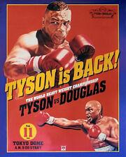 1990 Heavyweight Boxers MIKE TYSON vs BUSTER DOUGLAS Glossy 8x10 Photo Print