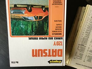 DATSUN 120Y 1974 1979  GREGORYS  WORKSHOP MANUAL