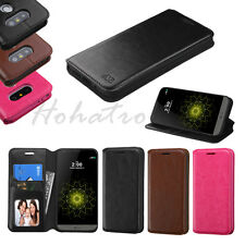 For LG G5 Leather Flip Wallet Case Cover Stand Pouch Folio Protective Card Slot