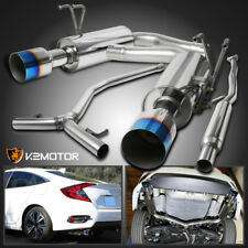 Fit 2016-2017 Honda Civic 1.5L Turbo S/S Catback Exhaust System Burnt Tip