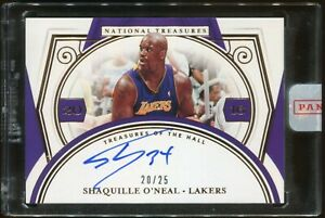 Shaquille O'Neal 2020-21 Panini National Treasures of The Hall Signed Auto 10/35