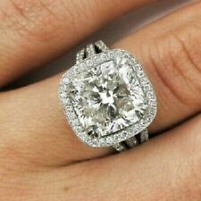 2.00Ct White Cushion Cut Diamond Engagement Wedding Ring 14K White Gold Over