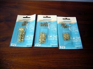 """Small Butt Narrow Hinges Vintage NOS 12 Brass 3/4"""" Boxes Crafts National Lock"""