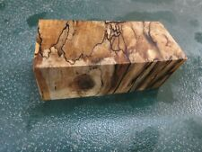 MM-SPALTED  MAPLE  DELUXE  KNIFE BLOCK/SCALES/ CALLS/ PEN BLANKS--M--44