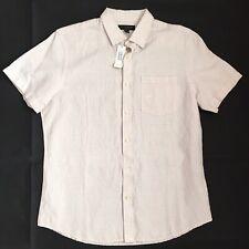 Banana Republic Factory Men's Linen Blend Check Shirt Size Large