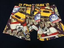 NWT FREEGUN DESIGN IN FRANCE BLACK BLUE RED BOXER BRIEFS MEN'S SIZE EXTRA LARGE