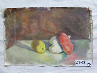 GAETANO PANCALDI Bozzetto dipinto olio Natura morta CON CERTIFICATO GARANZIA p9