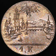 More details for nd (1839) | german states frankfurt am main 1 kreuzer | silver | km coins