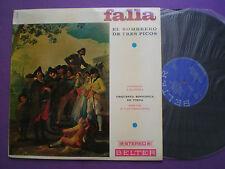 MANUEL DE FALLA El Sombrero De Tres Picos SPAIN LP 1968 J. MADEIRA Remoortel
