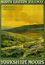 The Yorkshire Moors Tranquil Solitude Railway Poster