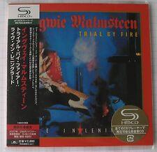 Yngwie MALMSTEEN-TRIAL BY FIRE GIAPPONE SHM MINI LP CD OBI NUOVO! UICY - 93551