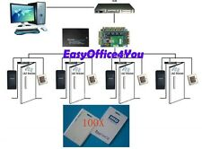 Extendible 4-Door PROXCARDⅡ Reader /Card door lock systems Access Control Kits