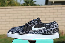 NIKE ZOOM STEFAN JANOSKI CANVAS SB 8 BLACK WHITE OLIVE TIGER CAMO 615957 013