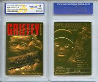2000 Baseball KEN GRIFFEY JR CINCINNATI Red Bleachers 23KT GOLD CARD GRADED 10