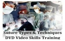 Suture Types & Suturing Techniques Medical Training Video Skills DVD - MD RN PA