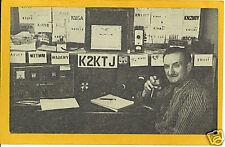 QSL Short Wave Radio Postcard - Les Pembrook Albany NY