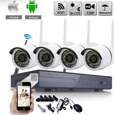 720P Wireless NVR Kit HD Outdoor IR CUT Security IP Camera WIFI CCTV System US