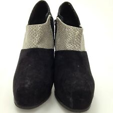 FAITH Black Suede Stiletto Heel Ankle Shoe Boots Winter Chic Ladies UK4 33116