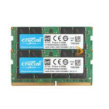 32 ГБ-Crucial 2x 16 ГБ DDR4 2400 т 2400 МГц PC4-19200 Sodimm Ram память ноутбука CL17