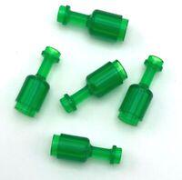Lego 5 New Trans-Green Minifigure Utensil Bottle Pieces