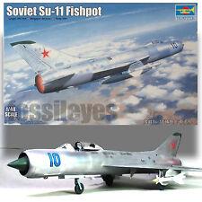 TRUMPETER 1/48 SUKHOI SU--11 FISHPOT MODEL KIT