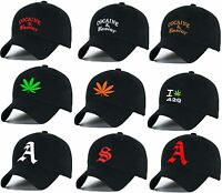 Casual  Baseball Cap Cocaine Caviar Ganja Weed caps adjustable Snapback letter A