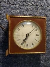 Vintage Alarm Clock Seth Thomas Poise Ss7-q Wood And Electric - Works Great!