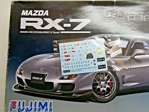 Fujimi 1:24 Scale Mazda FD3S RX-7 Spirit R Decal Sheet only from Kit # 03726