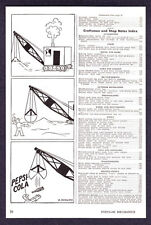 1947 Otto Soglow Steam Shovel art Pepsi-Cola Soda vintage print ad
