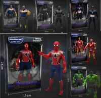 Avenger Hot Action Figure Spiderman Ironman Hulk Kids Toys With Box For Gift