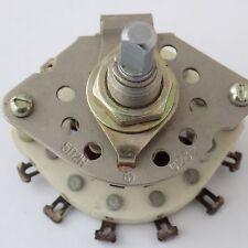 1x PGK-5P2N Rotary Switch 1 Deck 2 Pole 5 Pos - USSR NOS - ПКГ 5П2Н