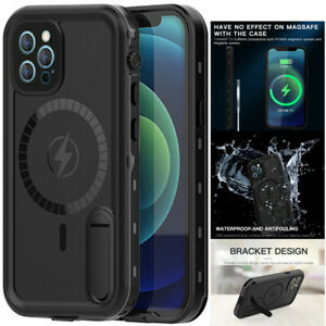 For iPhone 12 Pro Max Mini Waterproof Case With Magnetic Circle Shockproof Cover