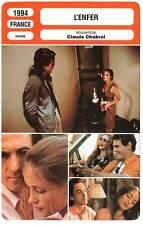 FICHE CINEMA : L'ENFER - Béart,Cluzet,Lavoine,Cassel,Chabrol 1994 Hell